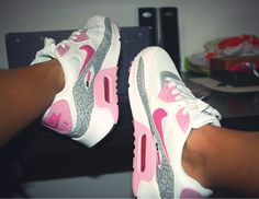 Girls nikes shoes Pink and blue nikes buying new home. Never worn * my daughter spent my youth too fast nikes Shoes Sneakers