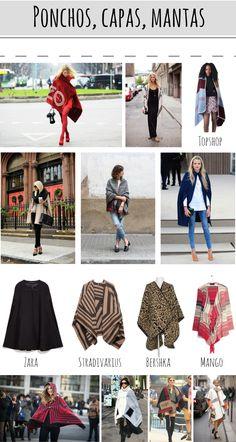 Paso a paso - Tendencia: capas, mantas, ponchos.