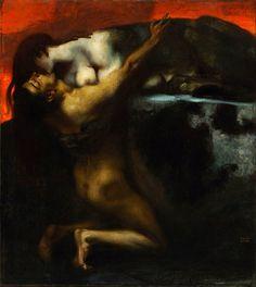 Franz von Stuck (1863-1928) - Il bacio della Sfinge
