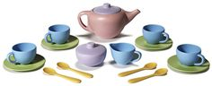 The Treehouse Green Gifts Online Store - Tea Set by Green Toys, $27.99 (http://www.treehousegreengifts.com/green-toys-tea-set/)