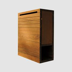 Wood mailbox in teak,cedar Manufacturer:BarbanTK 01 | Dwell