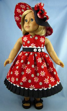 American Girl Doll Clothes   Doll Sundress by SewMyGoodnessShop, $25.00