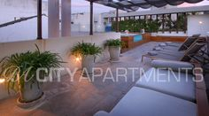 3-bedroom apartment in Palermo with private terrace and pool.