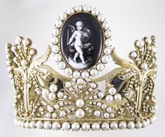 Sterling Josephine Bonaparte Crown Replica designed by Marie-Etienne Nitot, who founded Chaumet in 1780