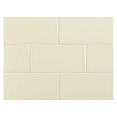 "Complete Tile Collection Vermeere Ceramic Tile - Alpine Lace - Crackle, 3"" x 6"" Manhattan Ceramic Tile, MI#: 199-C1-311-601, Color: Alpine Lace"