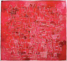 Maurice Christo van Meijel: studie voor papiersculptuur Piet Mondriaan (2013) aquarel op papier, 55 x 55 cm.