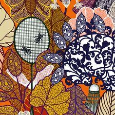 Merveilleuse nature : un livre illustré par Michaël Cailloux et mis en verbe par Nathalie Béreau aux éditions Thierry Magnier #michaelcailloux #merveilleusenature #illustration #illustrationart  #livre #art #novembre #skull #halloween
