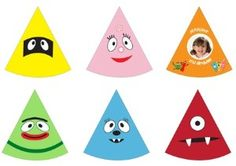 Etsy Printable party hats. 6 Party hats $8.00 and you can print as many as you want!