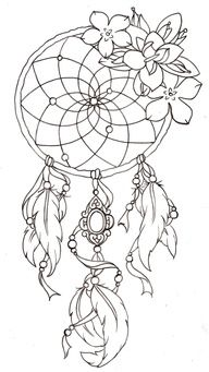 Dream Catcher Tattoo. Sooome day !!  This gives me more ideas for mine !! I never thought to incorporate flowers with it !  Now I can just get one big tattoo instead of two separate ones !! BRILLIANT !  I gotta start sketching this out !!!