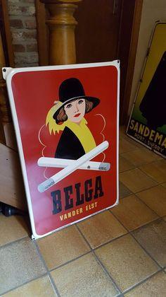 emaille bord BELGA - 1953