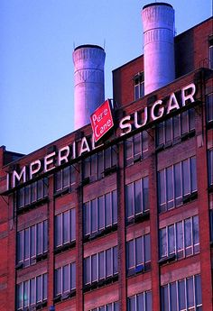 Sugar Land, TX - the old Imperial Sugar factory.  Closed in 2003, soon to be renovated into a mixed-use, comm/resid development ... better than being torn down I guess ... but not much