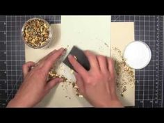 ▶ Cosmic Shimmer Gilding Flakes, part 2 - YouTube... excellent alternate use for dies, foil, and double-sided adhesive  to make shiny sentiments/embellishments
