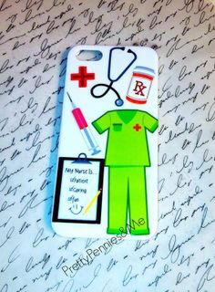 4f485acf2c22 Nurses iPhone Case by PrettyPenniesandME on Etsy