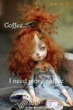 O - Ooak Art Dolls funnel cake king arthur - Funnel Cake Coffee Talk, Coffee Is Life, I Love Coffee, Coffee Break, My Coffee, Coffee Lovers, Coffee Pics, Momento Cafe, Coffee Quotes
