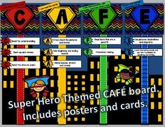 FREEBIE - Super Hero CAFE board to match any super hero themed classroom.