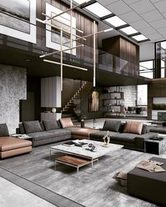 Swipe left and enjoy this warm and stylish interior design! 😍💛 Tag an Architecture Lover! d_signers ____ Design and Visualized by… 344595808988510306 Living Room Sets, Rugs In Living Room, Living Room Designs, Living Room Decor, Dining Room, Curtains Living, Dream Home Design, Modern House Design, Contemporary Interior Design