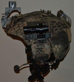 Large Special Forces Helmet Black Ops Core Peltor Seal Gunfighter CVC Helmet   eBay