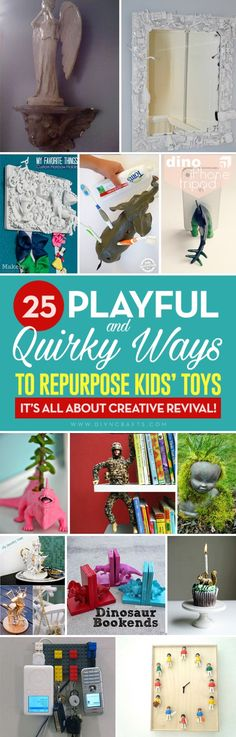 25 Playful and Quirky Ways to Repurpose Kids' Toys – It's All about Creative Revival! - Why would you want to repurpose toys? Because you care for the environment and don't like throwing things away. Because you have unused, broken toys that you can't rea Recycled Toys, Upcycled Crafts, Repurposed, Handmade Crafts, Cute Kids Crafts, Crafts To Do, Baby Crafts, Diy Projects For Kids, Upcycling Projects