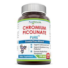 Pure Naturals Chromium Picolinate Supplement 200 Mcg 240 Count ** Click on the image for additional details.