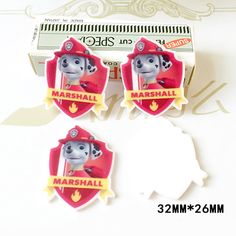 50pcs 32*26MM Cartoon Paw Patrol Marshall Flatback Resin Kawaii Dog Planar Resin DIY Crafts For Mobile Phone Decorations DL-764