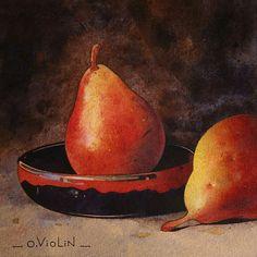 Oliver Violin.     Watercolor