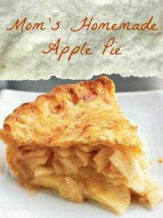 apple pie My Mom makes the best ever apple pie and it is truly a delight! This is the perfect recipe for apple pie for anyone who wants an old-fashioned, tasting pie with a flaky crust. Classic Apple Pie Recipe, Apple Pie Recipe Easy, Homemade Apple Pie Filling, Easy Pie Recipes, Apple Pie Recipes, Recipe Mom, Apple Desserts, Dessert Recipes, Homemade Recipe