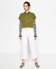 Image 1 of CROPPED SHIRT from Zara