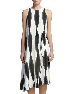 Sekka Stripe Print Dress