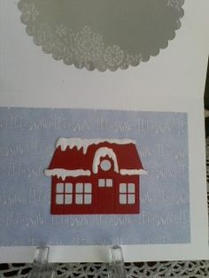 Marianne collectible Village House die inside Let it Snow card.