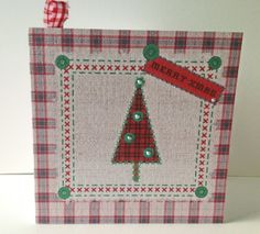 Christmas Card Pack,'Seasonal Stitches' Hand Finished Xmas Cards 5pk £4.50