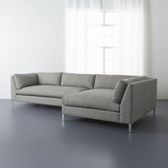 Shop decker grey 2-piece sectional.   Two generously scaled pieces add up to one sheltering spot for large rooms and large crowds.