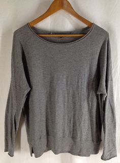 $79 Vince Crew Neck Sweater Size M Gray Cotton Pullover Top New Relaxed