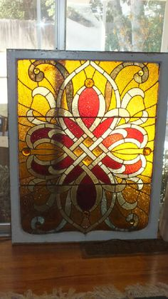 Found on EstateSales.NET: Victorian Stained Glass Window