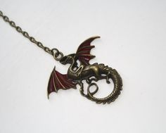 Drogon Dragon Necklace Game of Thrones Jewellery by BijouxMalou