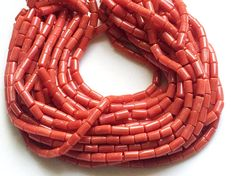 Italian Coral Beads Natural Italian Coral by gemsforjewels on Etsy
