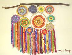 colour crochet x 8 Small Square Softcover) Large Dream Catcher, Dior, Colour, Design, Home Decor, Mandalas, Shawl, Color, Decoration Home