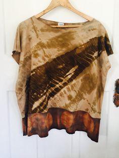Merino wool Shibori Naturally Dyed Top