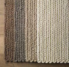knit rugs - restoration hardware