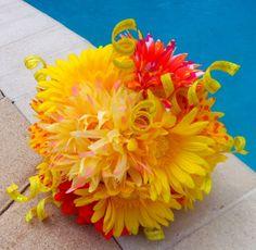 Etsy - Activity- Daisy Bouquet- Yellow/Orange Daisies @Alex Faith - #daisy,#wedding,#garden