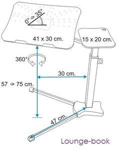 Lounge-book Ecodesign NATURAL Adjustable Laptop Desk by Loungetek