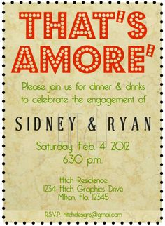 1000 images about engagement party ideas on pinterest for Italian bridal shower invitations