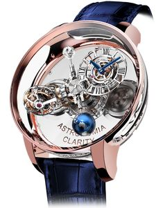 Leave it to Jacob & Co. founder Jacob Arabo to conceive a Gravitational Triple Axis Tourbillon and encase it in transparent sapphire. The dome-shaped crystal top of the Astronomia Clarity Rose … Amazing Watches, Beautiful Watches, Cool Watches, Stylish Watches, Luxury Watches For Men, Cartier, Tourbillon Watch, Skeleton Watches, Patek Philippe