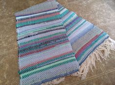 Woven Blues and Purples Rag Rug, Floor Rug, Floor Runner Check out this item in my Etsy shop https://www.etsy.com/listing/183515914/woven-blues-and-purples-rag-rug-floor