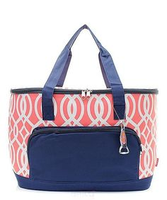 Ivy Coral Large Cooler Bag Insulated Tote