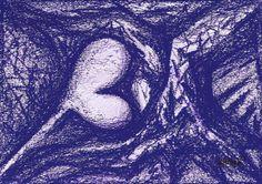 """Saatchi Art Artist Maria Marachowska; Drawing, """"HEART BALLOON"""" #art"""