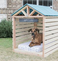 DIY Doghouse Gazebo | cute puppies and dog training tips by KaufmannsPuppyTraining.com