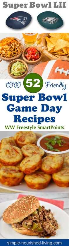 Top 52 Weight Watchers Super Bowl Recipes Roundup from blogs we love. All recipes include WW Freestyle SmartPoints! Simple-Nourished-Living.com
