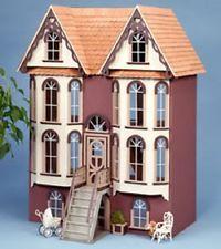 1/12 Classic Boston Victorian Emerson Row Charming Dollhouse Kit Wood Doll House