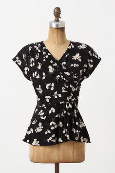 Plumeria Peplum Blouse #anthropologie