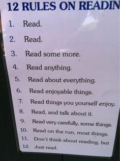 12 rules of reading